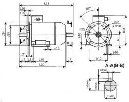 Электродвигатель АИР63А6 (0,18кВт,1000Об/мин)